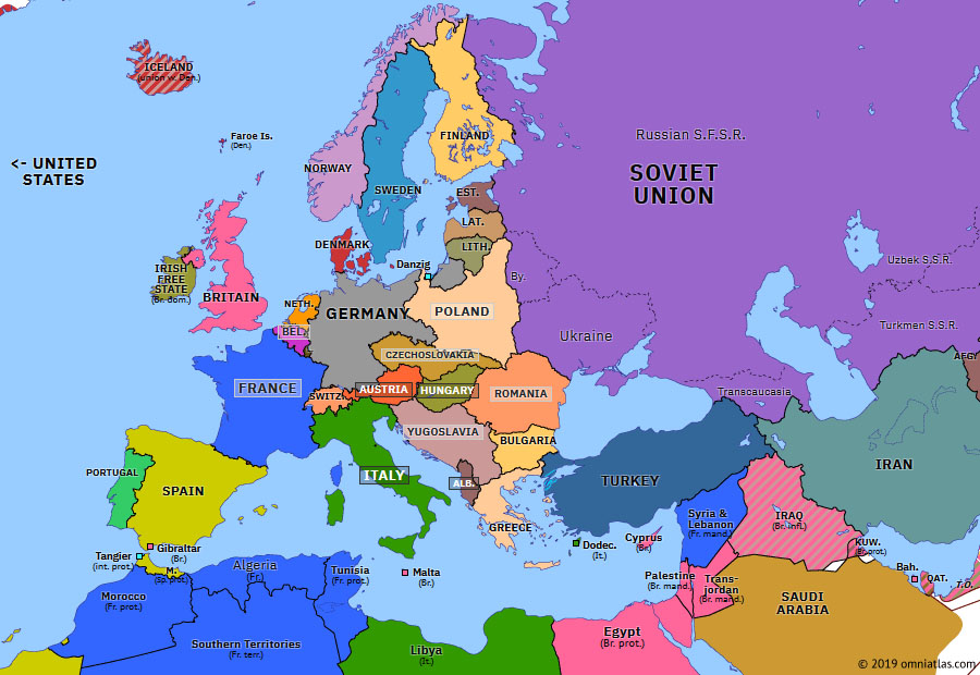 map of eastern europe 1935 Remilitarization of the Rhineland | Historical Atlas of Europe (7