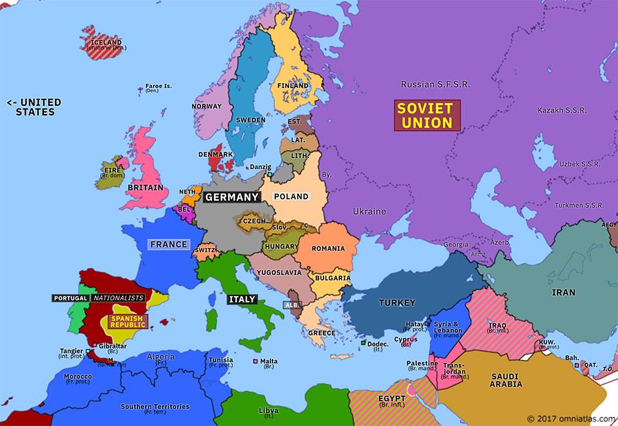 Munich Map Of Europe Appeasement at Munich | Historical Atlas of Europe (2 November
