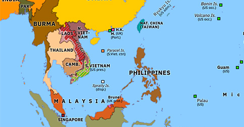 Vietnam War Historical Atlas Of Asia Pacific 1 April 1968 Omniatlas