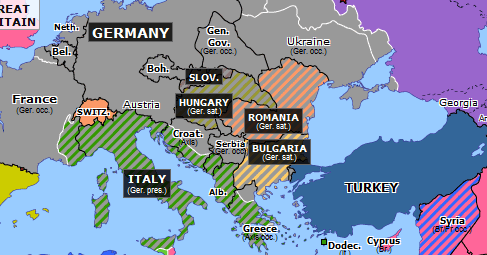 map of sicily in europe Kursk and Sicily | Historical Atlas of Europe (12 July 1943