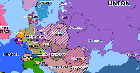 map of europe 1948 Berlin Airlift | Historical Atlas of Europe (1 August 1948