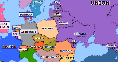 map of europe 1990 Reunification of Germany | Historical Atlas of Europe (3 October