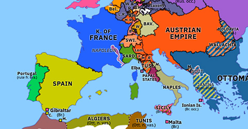 Historical Atlas of Europe 1815: Napoleon's Return