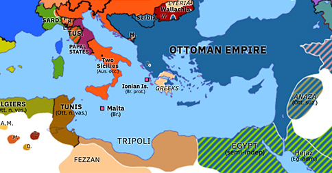 map of europe with greece Greek War of Independence | Historical Atlas of Europe (22 April