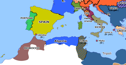 map of europe and morocco Franco Moroccan War | Historical Atlas of Europe (10 September