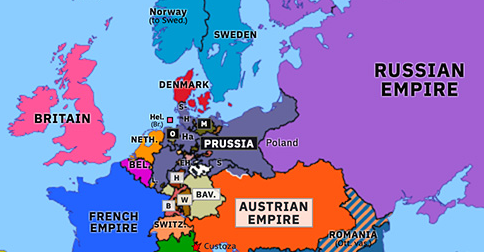 prussia on map of europe End of the German Confederation | Historical Atlas of Europe (24