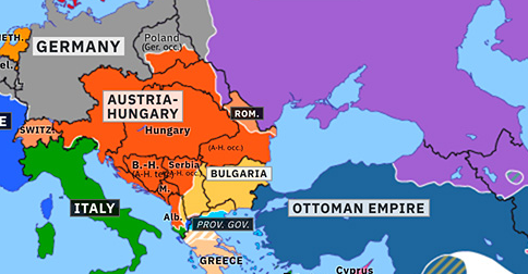 map of europe 1917 Collapse of the Eastern Front | Historical Atlas of Europe (12