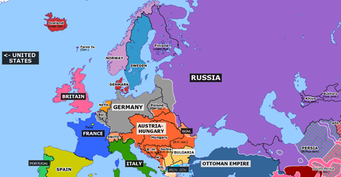 map of europe 1917 United States Enters the War | Historical Atlas of Europe (6 April