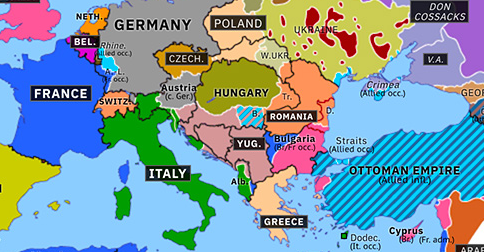 new map of europe New Countries in Eastern Europe | Historical Atlas of Europe (4