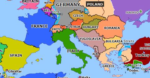 1920 map of europe Treaty of Rapallo   Historical Atlas of Europe (12 November 1920