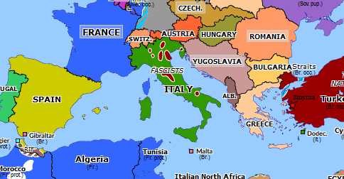 rome on europe map Mussolini's March on Rome | Historical Atlas of Europe (28 October