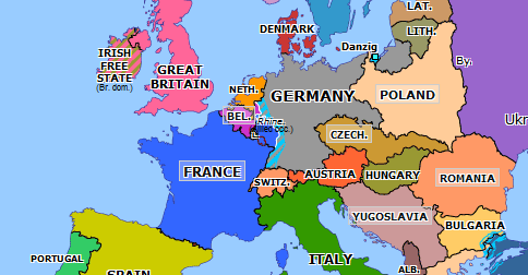 map of europe in 1925 Locarno Conference | Historical Atlas of Europe (1 December 1925