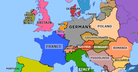 map of europe in 1936 Remilitarization of the Rhineland | Historical Atlas of Europe (7