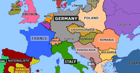 Map Of Europe Pre Ww2 Anschluss | Historical Atlas of Europe (13 March 1938) | Omniatlas