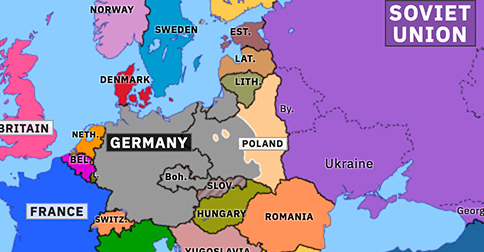 ww2 map of europe 1939 Invasion of Poland | Historical Atlas of Europe (16 September 1939