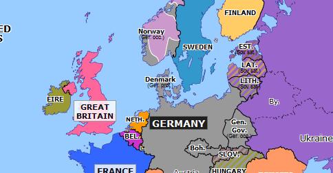Invasion Of Denmark And Norway Historical Atlas Of Europe 21 April 1940 Omniatlas