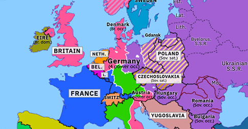 germany in map of europe Division of Germany and Austria | Historical Atlas of Europe (13
