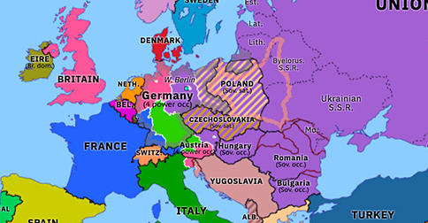 iron curtain map of europe The Iron Curtain Descends | Historical Atlas of Europe (19 April