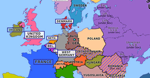 map of europe 1989 Fall of the Berlin Wall | Historical Atlas of Europe (10 November