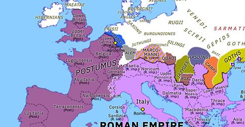 Historical Atlas of Europe 263: Limesfall