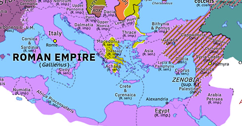 Historical Atlas of Europe 267: Gothic–Herulian Invasion of Greece