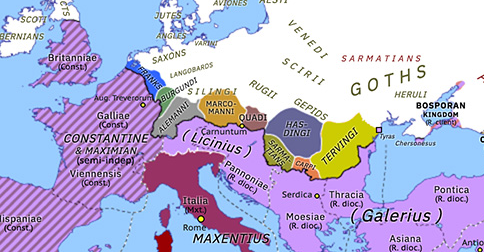 Historical Atlas of Europe 308: Council of Carnuntum