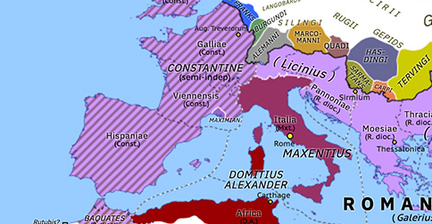 Historical Atlas of Europe 310: Maximian's Last Stand