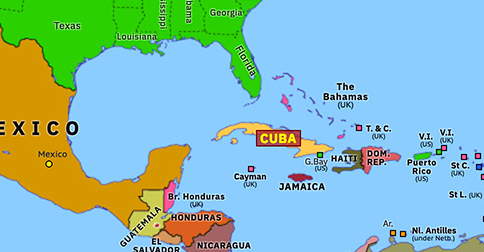 Us And Cuba Map Cuban Missile Crisis | Historical Atlas of North America (24