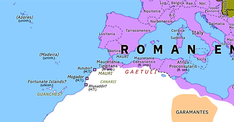 Political map of Northern Africa on 09 Jul 171 (Rome and Northern Africa: Mauri raids on Spain), showing the following events: End of Himyar–Saba Union; Hadrami Qataban; Lucius Verus' Parthian Campaign; Antonine Plague; First Marcomannic War; Mauri War of 171.