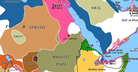 Historical Atlas of Northern Africa 1897: Kitchener in Sudan