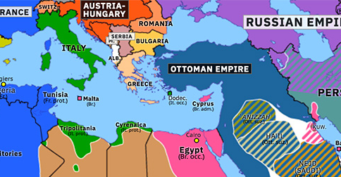 Historical Atlas of Northern Africa 1914: Ottoman Entry into WWI