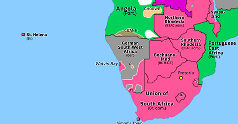 Map South West Africa South West Africa Campaign | Historical Atlas of Sub Saharan