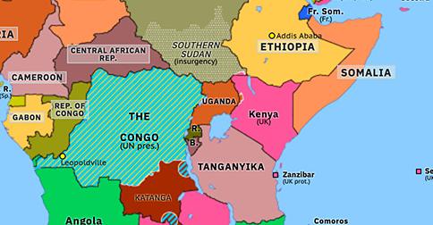 Political Map Of Sub Saharan Africa Independence in East Africa | Historical Atlas of Sub Saharan