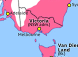 Historical Atlas of Australasia 1851: Colony of Victoria