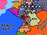 Historical Atlas of Europe 1849: May Uprisings