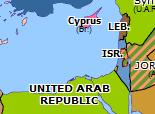 Historical Atlas of Europe 1958: Arab Nationalism