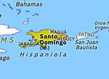 Historical Atlas of North America 1496: Colony of Santo Domingo