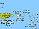 Historical Atlas of North America 1508: Colonization of Puerto Rico