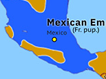 North America 1866: French withdrawal from Mexico