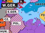 Northern Eurasia 1955: Warsaw Pact