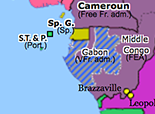 Sub-Saharan Africa 1940: Battle of Gabon