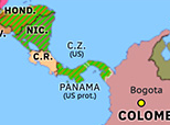 South America 1914: Opening of the Panama Canal