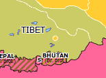 Historical Atlas of Southern Asia 1912: Tibetan Independence