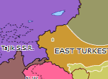 Southern Asia 1933: First East Turkestan Republic