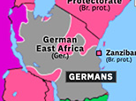Sub-Saharan Africa 1916: East African Campaign