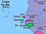 Historical Atlas of Sub-Saharan Africa 1942: Three French Empires