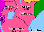 Sub-Saharan Africa 1953: Mau Mau Uprising