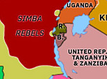Historical Atlas of Sub-Saharan Africa 1964: Simba Rebellion
