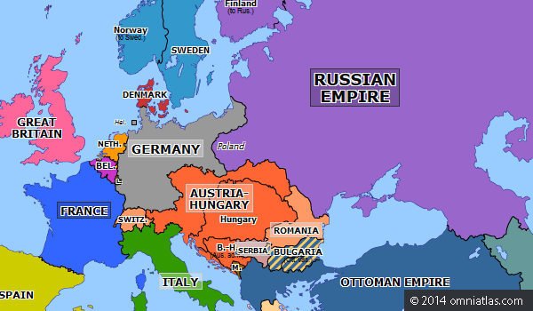 political map of europe 1890 Franco Russian Alliance   Historical Atlas of Europe (4 January