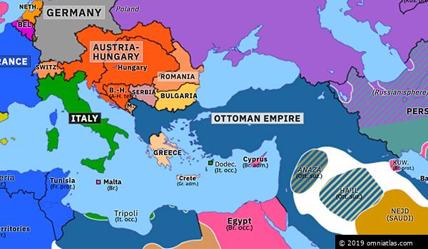 map of europe in 1912 Italo Turkish War | Historical Atlas of Europe (17 May 1912